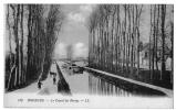 Bourges Cher Canal Berry Péniche Mules Peupliers Halage 1920 état Superbe - Bourges