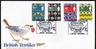 Great Britain 1982 British Textiles FDC - Cromford Mills ARKWRIGHT ANNIVERSARY Postmark - 1981-1990 Em. Décimales
