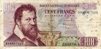 - Billet De 100 Francs 28.03.72. - Belgien
