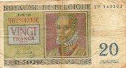 - Billet De 20 Francs 01.07.50. - Belgien