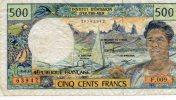 - Billet De 500 Francs Institut D´émission D´outre-mer - 191 - Bankbiljetten