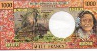 - Billet De 1000 Francs Institut D´émission D´outre-mer - 193 - Billets