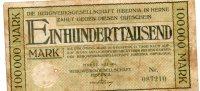 - Billet De 100000 Mark - 1923  - 199 - 1918-1933: Weimarer Republik