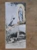 Image Pieuse - Aux Pieds De Marie, J'ai Prié Pour Vous - Lourdes St Sacrement Devant Les Malades - Bonamy  4,5x10,1cm - Devotion Images
