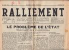 N° 21 7 Décembre 1946 - Ralliement - Organe Du Ralliement Neuchâtelois - Journaux - Quotidiens