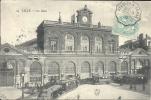 NORD PAS DE CALAIS - 59 - LILLE - La Gare Avec Tramways - Belle Animation - Oblitération Ligne Etaples à Arras - Lille