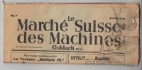 Le Marché Suisse Des Machines - Goldach - N° 7 Juillet 1944 - Avec La Carte Postale Pour Une Petite Annonce - Autres