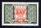 MONACO 1957 DUES 100Fr SC.#J38A MNH CV.$12.00 - Postage Due