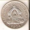 MONEDA DE PLATA DE HONDURAS DE 1 LEMPIRA DEL AÑO 1934 (COIN) SILVER,ARGENT. - Honduras