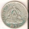 MONEDA DE PLATA DE HONDURAS DE 1 LEMPIRA DEL AÑO 1937 (COIN) SILVER,ARGENT. - Honduras