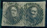 Belgique - No 10 Oblitéré P 76 (Louvain), Paire, 4 Marges, 4 Voisins, Superbe, See Scan - 1858-1862 Medaillen (9/12)