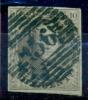 Belgique - No 10 Oblitéré P 156 (Chenée), 4 Marges, Voisin Inférieur, Superbe, See Scan - 1858-1862 Medaillen (9/12)
