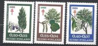 Finlande 1969 N°624/626 Surtaxe Antituberculeux Arbres
