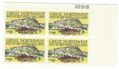 #1409 Plate # Block Of 4, 1970 Fort Snelling Minnesota Military, 6-cent US Postage Stamps - Plate Blocks & Sheetlets
