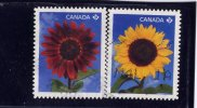 CANADA, 2011,  USED, # 2444-5,    SUNFLOWERS    USED  WYSIWYG - Carnets