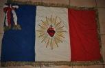 Rare Drapeau Français En Feutrine Et Files D'or Coeur De Jésus Guerre De 14-18 - 1914-18