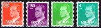 SERIE 4 TIMBRES ESPAGNE NOUVEAU 1977 SERIE BASIQUE JUAN CARLOS I - Familias Reales