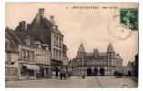 Auxi Le Chateau - Hotel De Ville - Place Animée - Dos écrit - Auxi Le Chateau