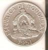 MONEDA DE PLATA DE HONDURAS DE 50 CENTAVOS DEL AÑO 1951  (COIN) SILVER,ARGENT. - Honduras