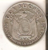 MONEDA DE PLATA  DE DOS SUCRES DEL AÑO 1928  (COIN) SILVER,ARGENT. - Ecuador