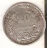 MONEDA DE PLATA DE URUGUAY DE 20 CENTESIMOS DEL AÑO 1877  (COIN) SILVER,ARGENT. - Uruguay