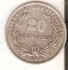 MONEDA DE PLATA DE URUGUAY DE 20 CENTESIMOS DEL AÑO 1893  (COIN) SILVER,ARGENT. - Uruguay