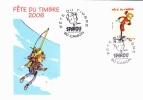 SPIROU Fête Du Timbre 2006 - Oblitération Camon 80 - 25/02/2006 (BD) - Comics