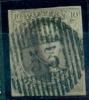 Belgique - No 10 Oblitéré D 53 (Vertryck), 4 Marges, Superbe, See Scan - 1858-1862 Medaillen (9/12)