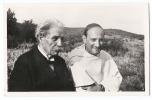 Albert Schweitzer [1952] + Pater Pire [1958] été 1959 - 2 Prix Nobel Paix Ensemble - Nobel Prize Laureates