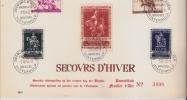 BELGIQUE :  1945 :N°603/12 Feuillet Souvenir.Série Avec Oblit.Secours D´Hiver. - Panes