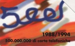 *ITALIA: 500 MILIONI DI CARTE* - Scheda Usata - Italia