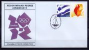 Greece 2012 > London 2012 > Ancient Olympia 10-May-2012 > Olympic Flame Lighting Ceremony  > Unofficial FDC - Verano 2012: Londres