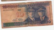 Billet - Lituanien - 10  Desimt Litu - 1993 - Lithuania