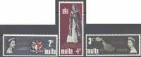 1967 Malta, Visita Regina Elisabetta , Serie Completa Nuova (**) - Malta