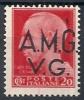 1945-47 TRIESTE AMG VG 20 CENT RUOTA VARIETà PUNTO SOPRA G MNH ** - RR10721 - 7. Trieste