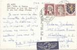 2 Marianne De Decaris 1263 Et Un Blason Sur Cp Par Avion Obliteration Recette Distribution - 1960 Marianna Di Decaris