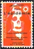 """Carte Postale """"Cart´Com"""" (2002) - AFAG Théâtre Présente """"L´épidémie"""" (Timbre Poste - Tête De Mort) Centre Mathis - Teatro"""
