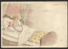 *** Art Nouveau - Journée D'une Jeune Fille - 1 - Le Réveil - Pub Au Dos *** - Autres Illustrateurs