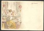 *** Art Nouveau - Journée D´une Jeune Fille - 6 - La Toilette - Pub Au Dos *** - Autres Illustrateurs