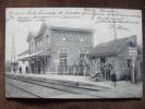 CPA.       BUGGENHOUT.   La Gare.    1906.      (animée)  . - Buggenhout