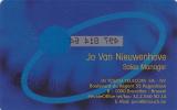 Carte Intouch Sales Manager Jo Van Nieuwenhove (Mint,Neuve) Tirage 500 EX Très Rare ! - [2] Prepaid- Und Aufladkarten