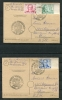 Germany Berlin (West) 1949 2 Post Card Mi 61-3 Special Cancel CV 500 Euro  Wolfgang Von Goethe - [5] Berlin