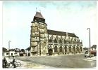 14-   PONT  L' EVEQUE -   Eglise Saint Michel -  Animée - Superbe 2CV - Pont-l'Evèque