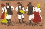 H-BALLO SARDO CARD IN SUGHERO - Cartoline