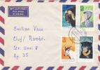BEAR, OURS, BISON, PELICAN, GOAT, 1972, STAMPS ON COVER, GERMANY - Ours