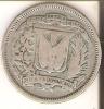 MONEDA DE PLATA DE LA REP. DOMINICANA DE 25 CENTAVOS DEL AÑO 1937  (COIN) SILVER,ARGENT. - Dominicaine
