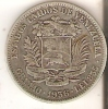 MONEDA DE PLATA DE VENEZUELA DE 2 BOLIVARES DEL AÑO 1936  (COIN) SILVER,ARGENT. - Venezuela