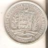MONEDA DE PLATA DE VENEZUELA DE 2 BOLIVARES DEL AÑO 1960  (COIN) SILVER,ARGENT. - Venezuela