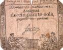 Assignats/Domaines Nationaux/ 50 Sols/23 Mai 1793         BIL29 - Assignats