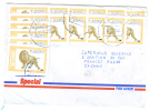 VEND TIMBRES DE LA REPUBLIQUE DEMOCRATIQUE DU CONGO N° 1522AQ X 19 , SUR LETTRE !!!! - Democratic Republic Of Congo (1997 - ...)